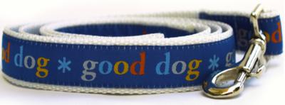 Dog Diva Blue Good Dog Leash 5 Ft