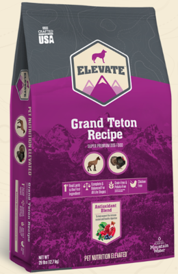 ELEVATE GRAND TETON DOG 28 LBS SUPER PREMIUM
