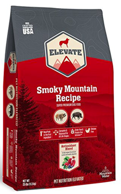 ELEVATE SMOKY MOUNTAIN DOG FOOD 28 LBS