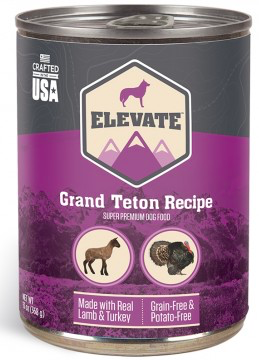 ELEVATE TETON CANNED DOG FOOD 12 CASE