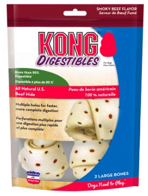 KONG SMALL DIGESTIBLE BEEFHIDE BONES