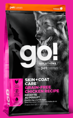 PETCUREAN GO! SKIN AND COAT 3.5 DRY DOG FOOD CHICKEN Grain Free