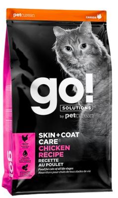 PETCUREAN GO! SKIN AND COAT CARE CAT FOOD 8 LBS