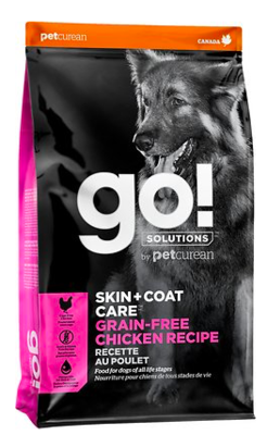 PETCUREAN GO! SKIN AND COAT CHICKEN DOG FOOD 12LBS DRY DOG FOOD Grain Free