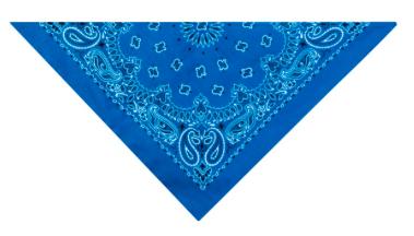 PET EDGE ROYAL BLUE BANDANA