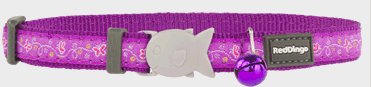 Red Dingo Cat Collar Butterfly Purple
