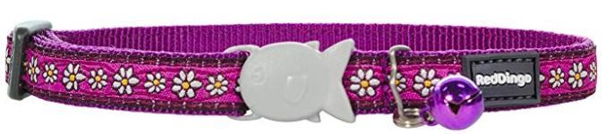Red Dingo Cat Collar Daisy Chain Purple