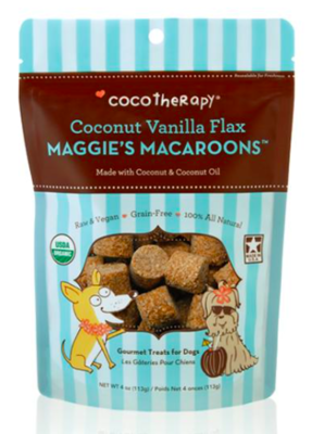 COCOTHERAPY MAGGIE'S MACAROONS COCONUT VANILLA FLAX 4 OZ
