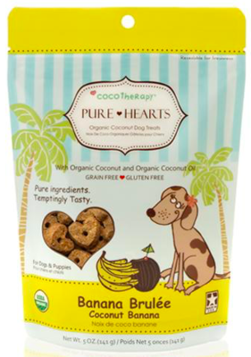 COCO THERAPY PURE HEARTS COCONUT COOKIES BANANA BRULEE 5 OZ