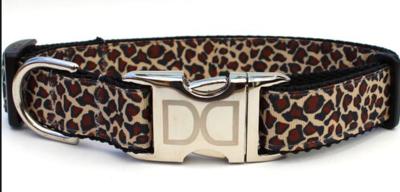 Diva Dog Leaping Leopard Dog Collar M/l