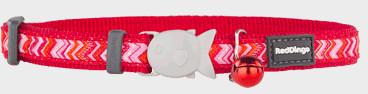 Red Dingo Cat Collar Pizzazz Dark 12mm