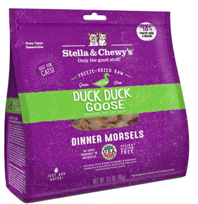 STELLA AND CHEWY DUCK GOOSE FZDRD CAT FOOD 3.5 OZ