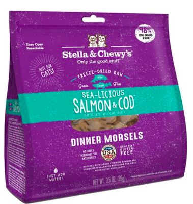 STELLA AND CHEWY SEA LICIOUS SLM/COD CATFOOD 3.5 OZ