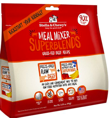 STELLA AND CHEWY SUPER BLEND BEEF MEAL MIX 3.25 OZ