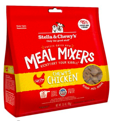 STELLA AND CHEWY SUPER BLEND CHICKEN MEAL MIX 3.5 OZ