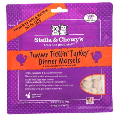 STELLA AND CHEWY TUMMY TICKLIN TURKEY CAT FOOD 3.5 OZ