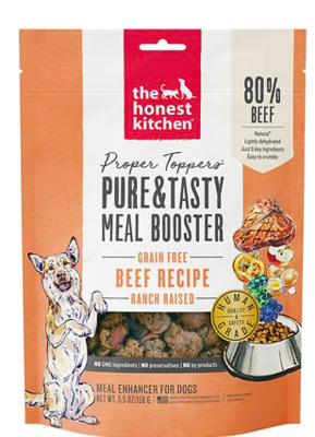 THE HONEST KITCHEN DEHYDRATED FOOD TOPPER DOG FOOD BEEF GRAIN FREE