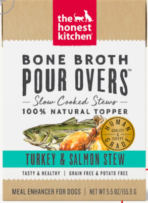 THE HONEST KITCHEN POUR OVER TURKEY/SALMON BONE BROTH 12/5.5OZ CASE