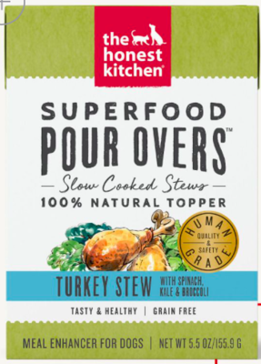 THE HONEST KITCHEN SUPERFOOD POUR OVER LMB/SPCH/KALE/BROC BROTH 12\5.5OZ CASE
