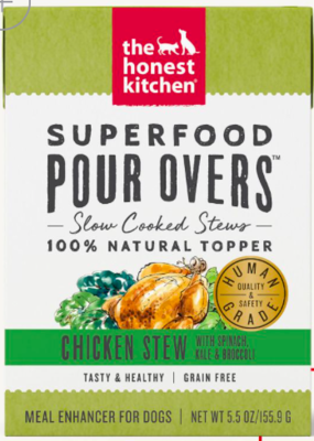 THE HONEST KITCHEN SUPERFOOD POUR OVER TKY/SPCH/KALE/BROC/BROTH 12/5.5OZ