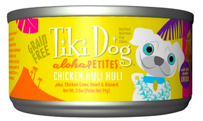TIKI DOG ALOHA VARIETY SINGLE CAN 3.5 OZ