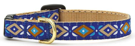 UP COUNTRY AZTEC BLUE CAT COLLAR SIZE 12