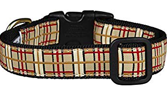 UP COUNTRY COUNTRY PLAID DOG COLLAR Medium WIDE