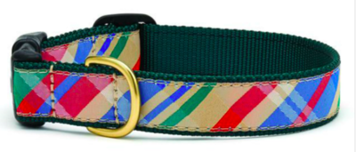 UP COUNTRY MADRAS DOG COLLAR MED WIDE