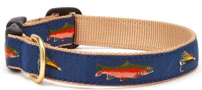 UP COUNTRY TROUT DOG COLLAR MED WIDE
