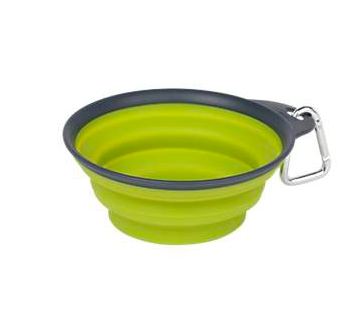 DEXAS COLLAPSIBLE TRAVEL WATER BOWL GREEN SMALL