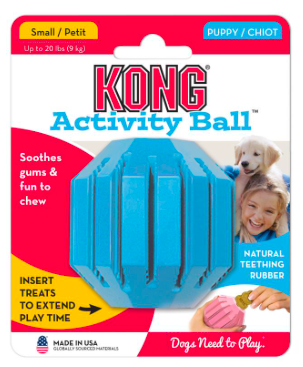 KONG ACTIVITY BALL PUPPY TEETHING TREATS LARGE