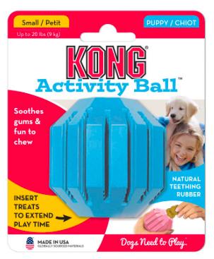 KONG ACTIVITY BALL FOR PUPPIES  TEETHING TREATS LARGE