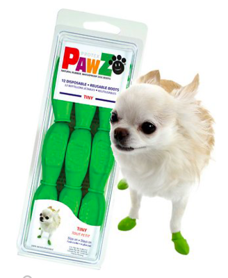 PAWZ DOG BOOTS TINY APPLE GREEN 12 CT
