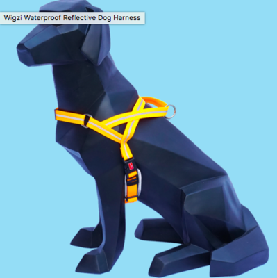 WIGZI WATERPROOF PADDED REFLECTIVE HARNESS MEDIUM NEON ORANGE 19-30