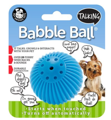 PET QWERKS TALKING BABBLE BALL SMALL