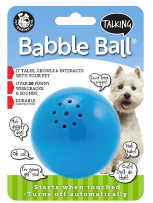 PET QWERKS TALKING BABBLE BALL MEDIUM