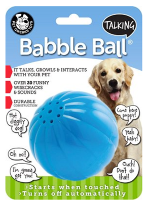 PET QWERKS TOYS TALKING BABBLE BALL LARGE
