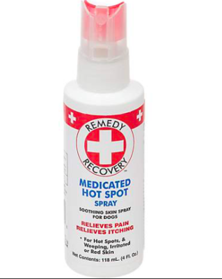 REMEDY RECOVERY MEDICATED HOT SPOT SPRAY RELIEVES PAIN AND ITCHING