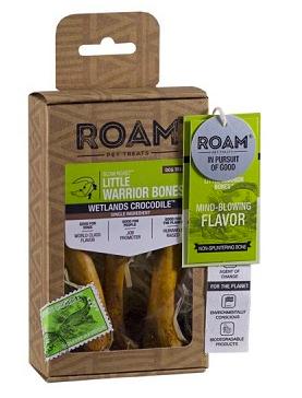 ROAM LITTLE WARRIOR CROCODILE BONES SMALL DOGS TREAT