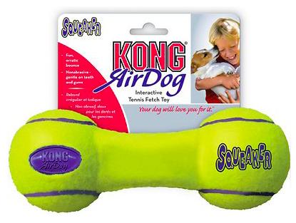 KONG AIR DOG SQUEAKER DUMBELL MEDIUM