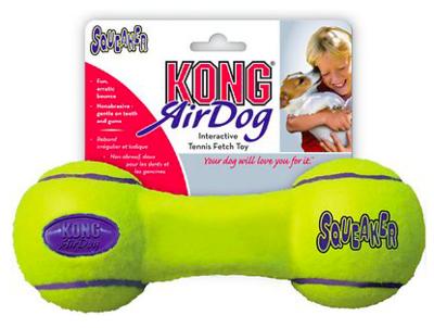 KONG AIR DOG SQUEAKER DUMBELL SMALL
