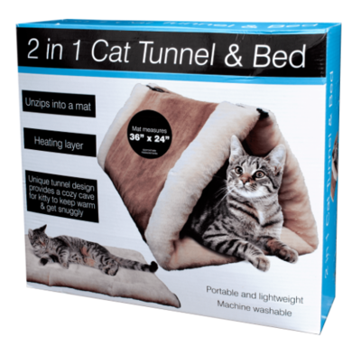 2 In 1 CAT TUNNEL AND BED