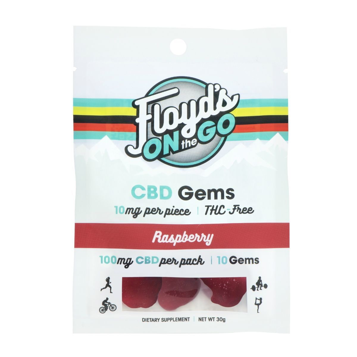Floyd of Leadville CBD Gummy 10 count 10 Raspberry