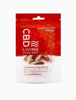 CBD Living Rings - Cherry 100MG