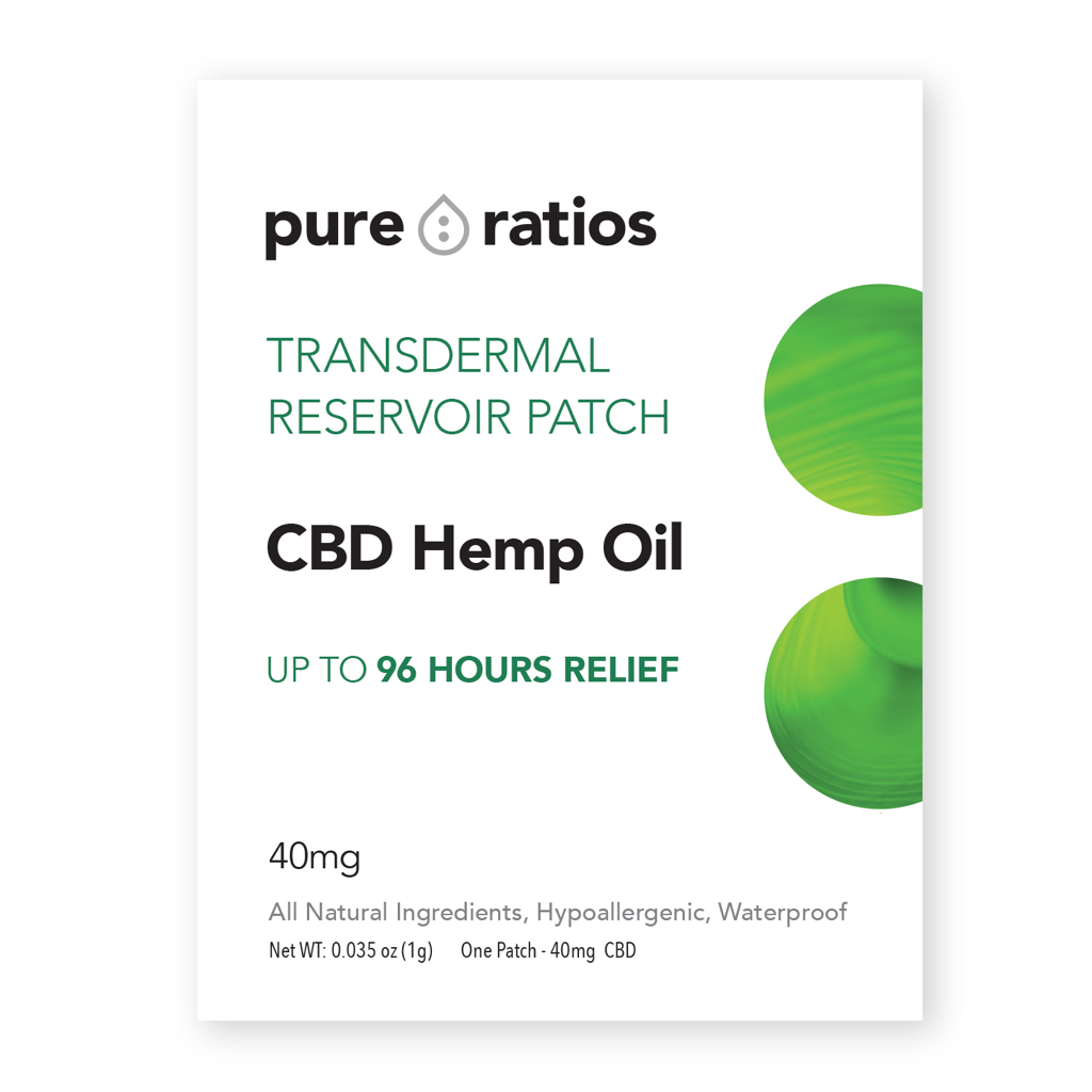 Pure Ratios CBD Oil Pain Patch - 40 MG