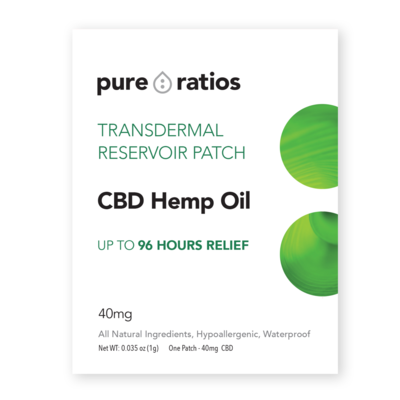 Pure Ratios CBD Oil Pain Patch -40MG