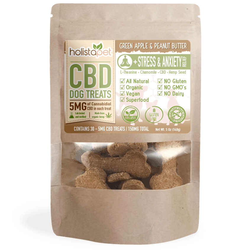 HolistaPet CBD Pet Treats- Stress and Anxiety Relief