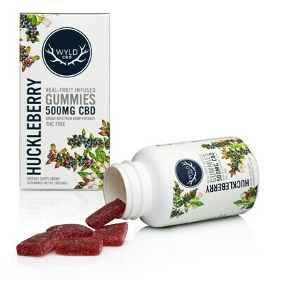 Wyld CBD Gummies 500mg - Huckelberry