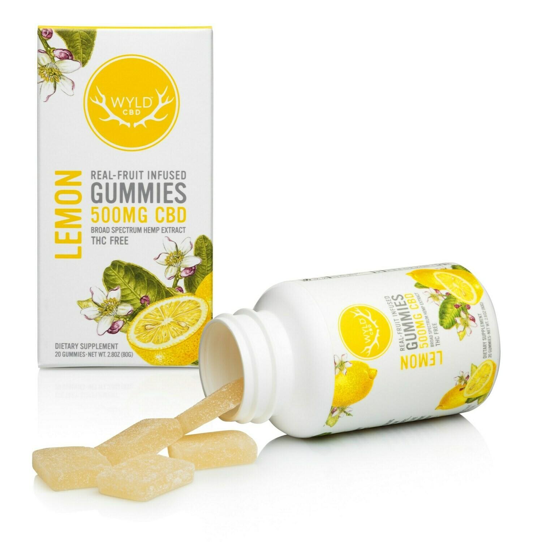 Wyld CBD Gummies 500mg CBD - Lemon
