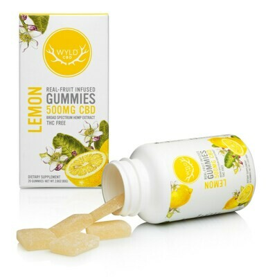 Wyld CBD Gummies 500mg CBD - Lemon